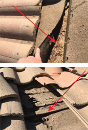 Failing Tile Roofing