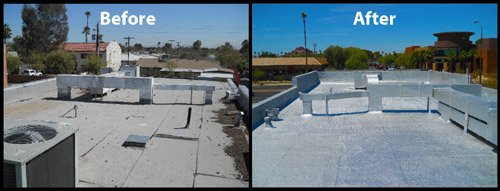 Roof Coatings - Before & After