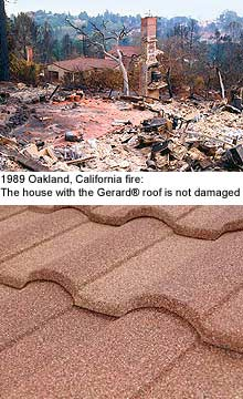 Stone Coating Protects Roofs